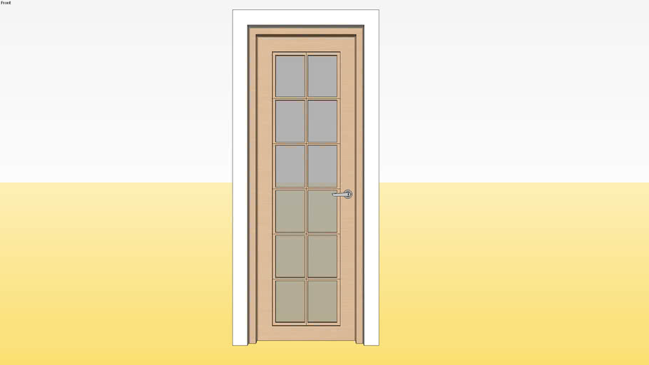 Panel Glass Door D9 700 x 2100 Jamb 4