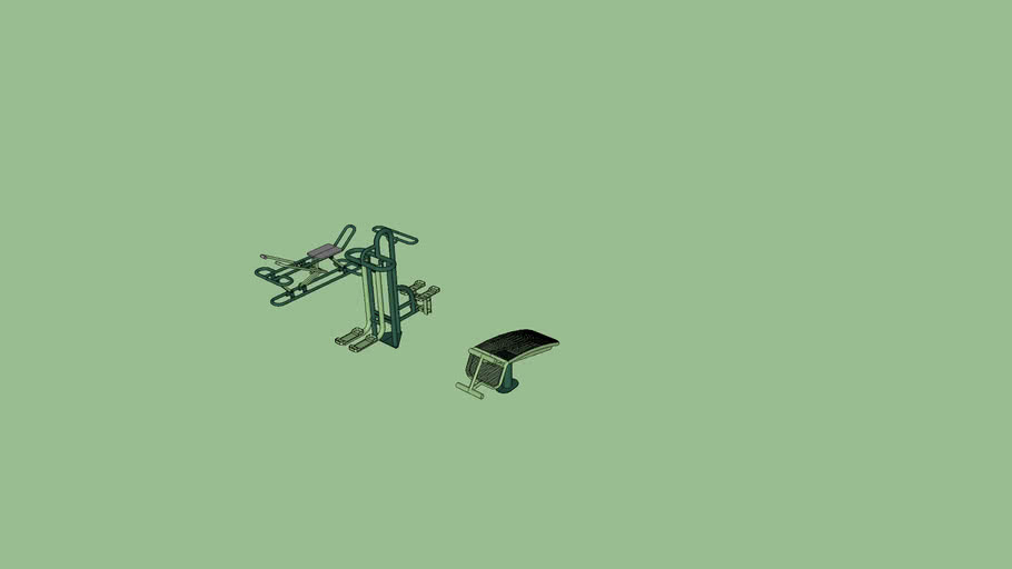 Outdoor Gym Exercise Equipment Street Workout 3d Warehouse