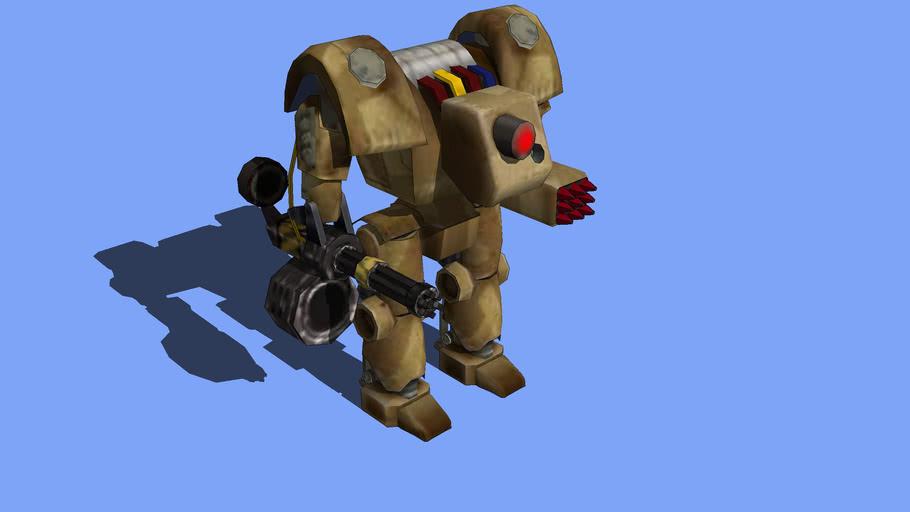 Fallout 2 Sentry Bot MK-1 (low poly)
