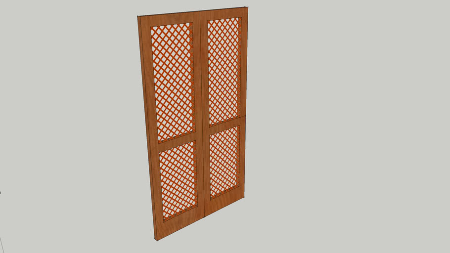 porta madeira treliçada bang bang