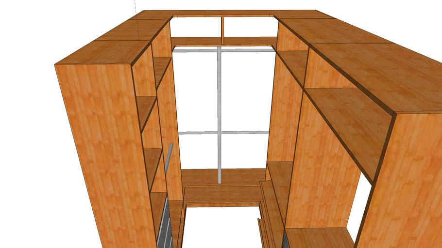 Гардеробная для балкона