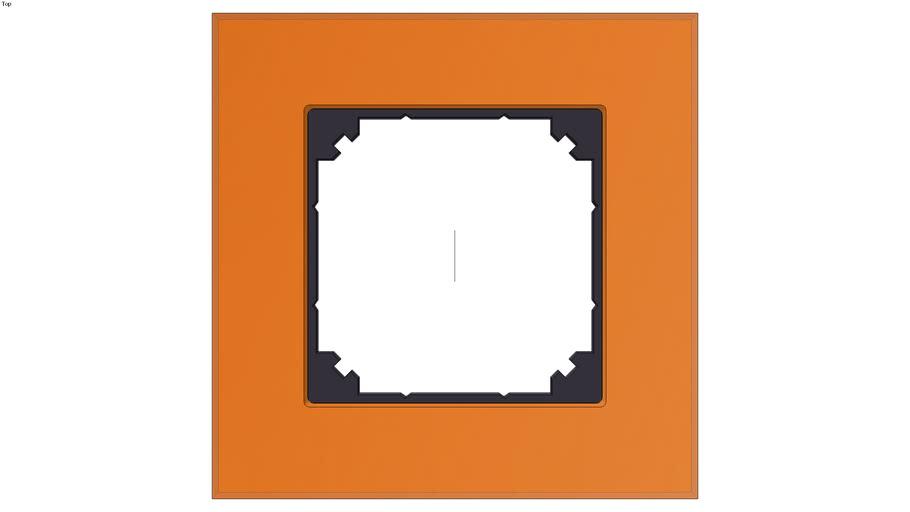 Real glass frame, 1-gang, Calcite orange