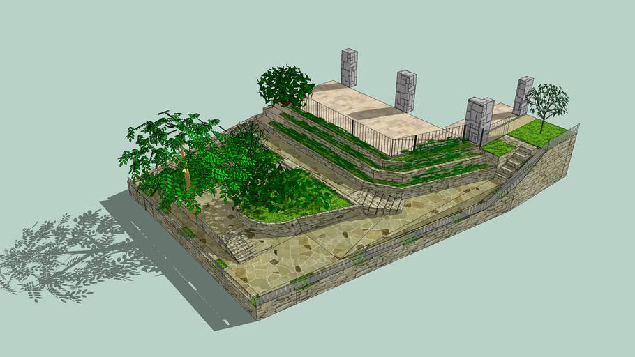 proyecto jardin escalonado