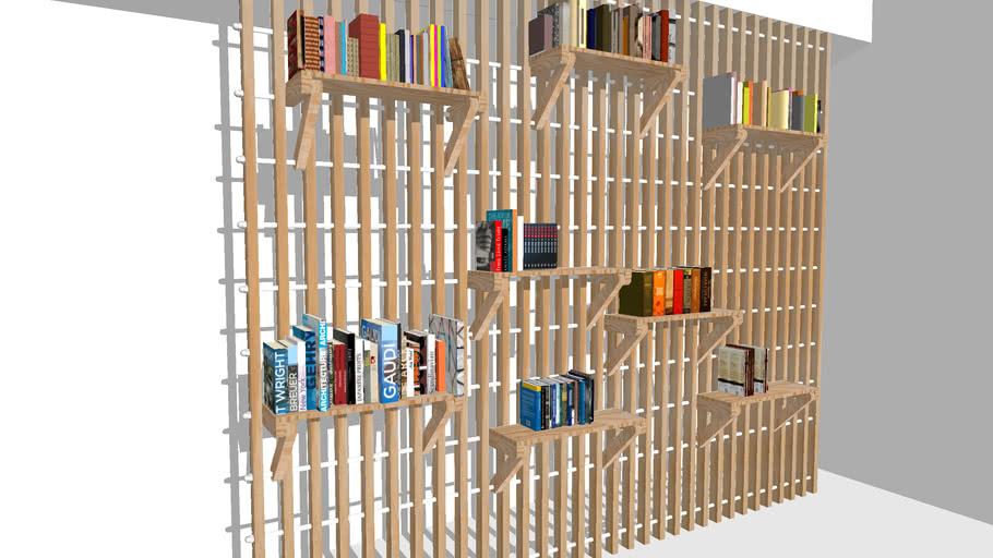 Custom Modular Wood Shelves