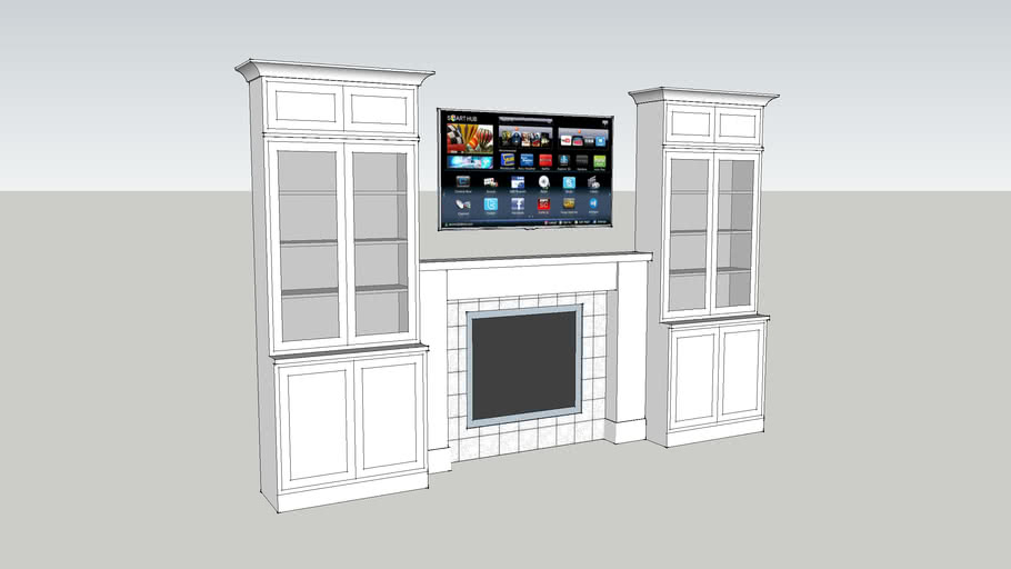 Fireplace And Tv And Cabinet Wall Unit 12 Long 8 High 3d Warehouse
