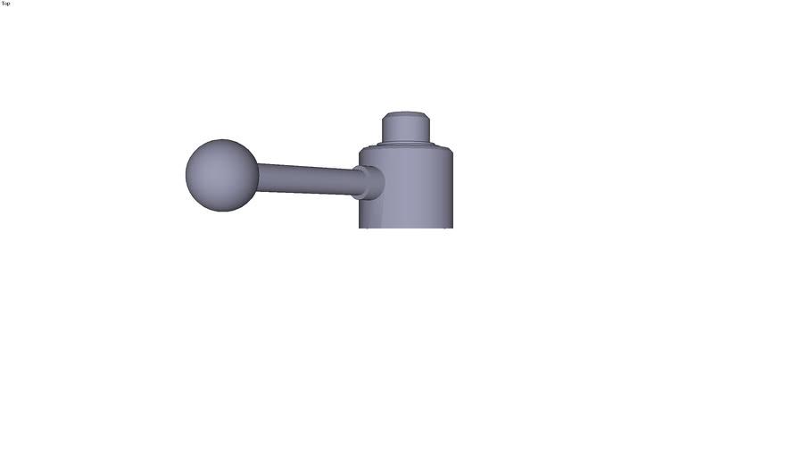 Elément de serrage actima avec alésage traversant pression à droite