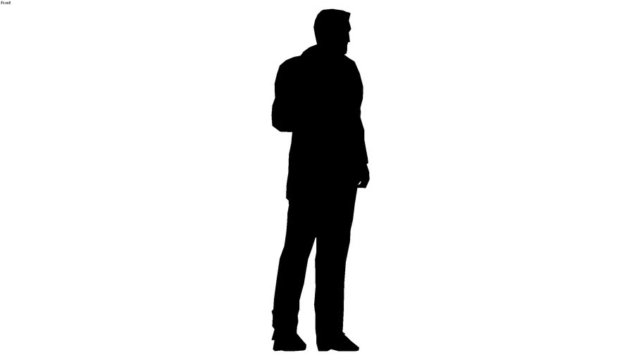 2d silhouette man standing 2
