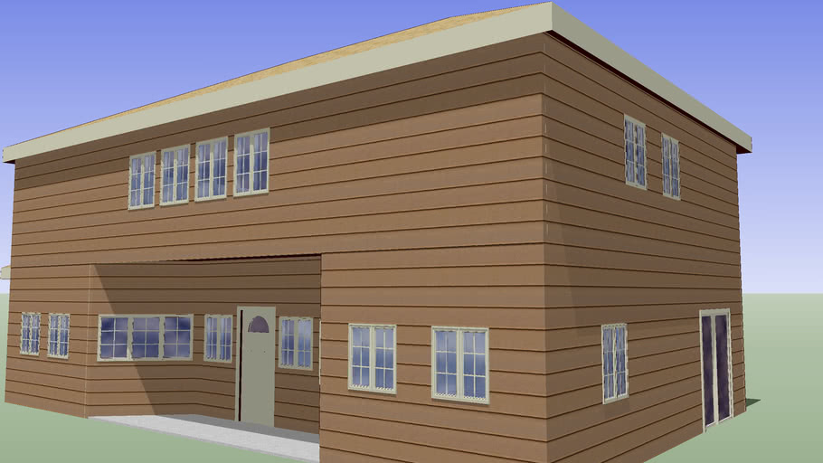 PLAN 0AAD1 - 2 Story AMERCAN STYLE Residence and attached Garage.