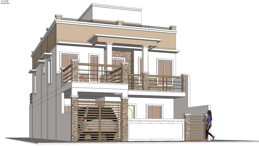 2 Storey With Roofdeck 3d Warehouse