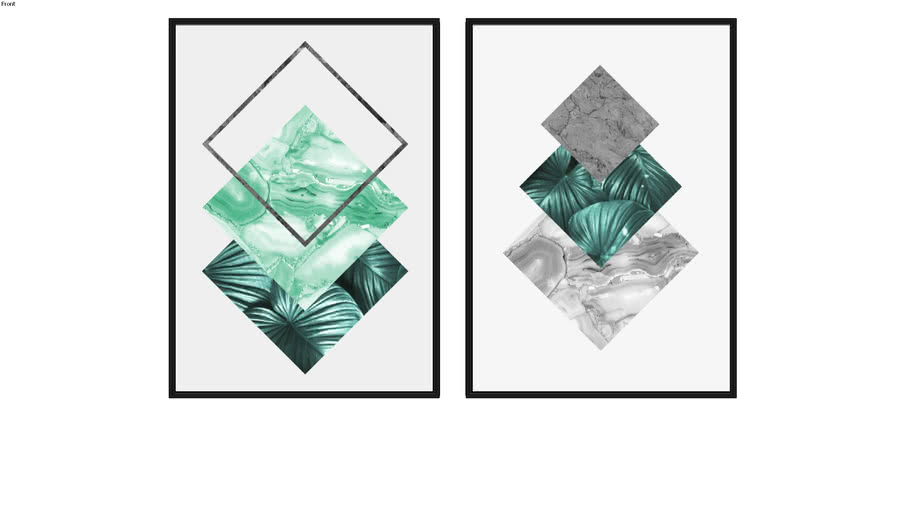 Quadros Floral e Geométrico II e Floral e Geométrico III