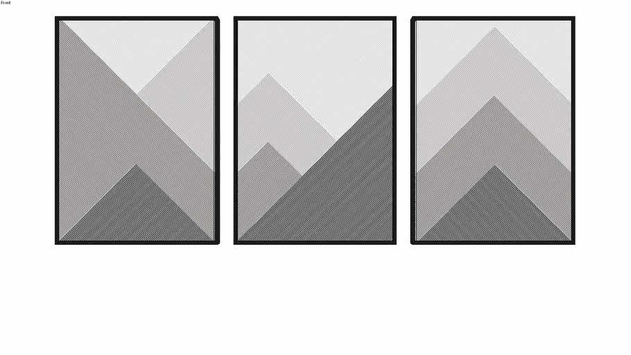 Composição de 3 quadros - 14