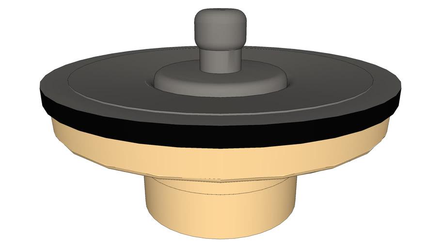 DOCOL - Válvula de saída d'água universal arte com tampa de metal grafite escovado
