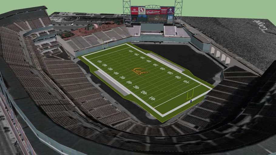 At&t Park in Football Config. For Cal