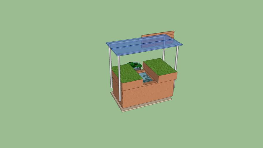 Mobile 150gal Rubbermaid Aquaponics System