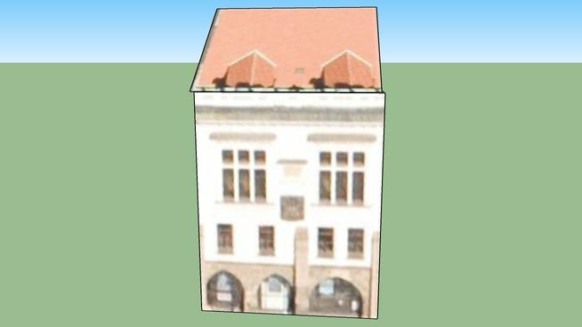 Staroměstské náměstí Praha, Česká republika - budova vedle orloje