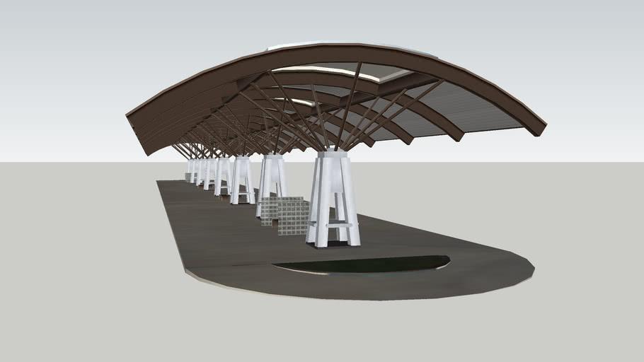 Metro Bus Station; Park and Ride, Houston, TX