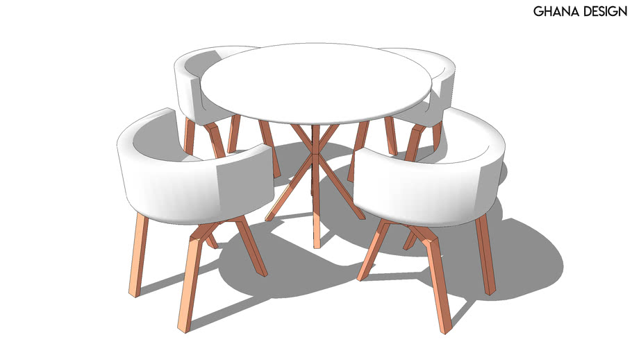 Round Table With Chairs 3d Warehouse