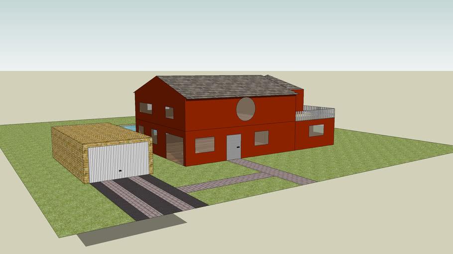 maison avec piscine et garage