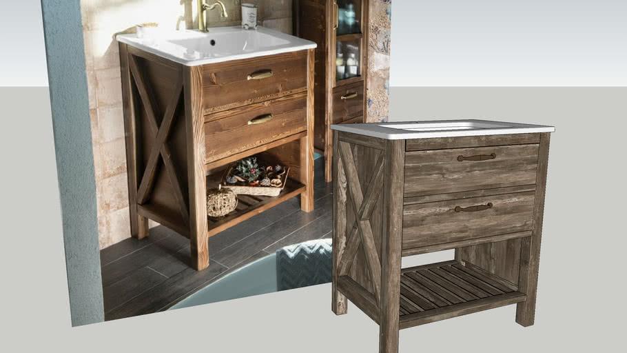 Bathroom washbasin cabinet WESTERN V-ray