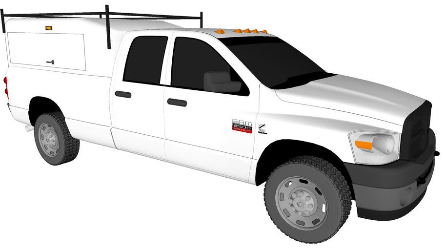 2008 Dodge Ram 2500 Work Truck with Cap.