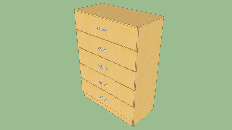 Commode (with dynamic components, opening drawers)