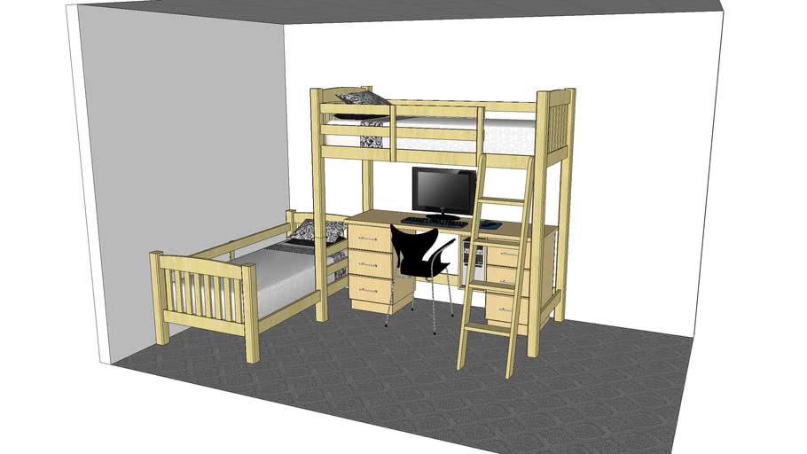 Bunk Bed With Desk Warehouse