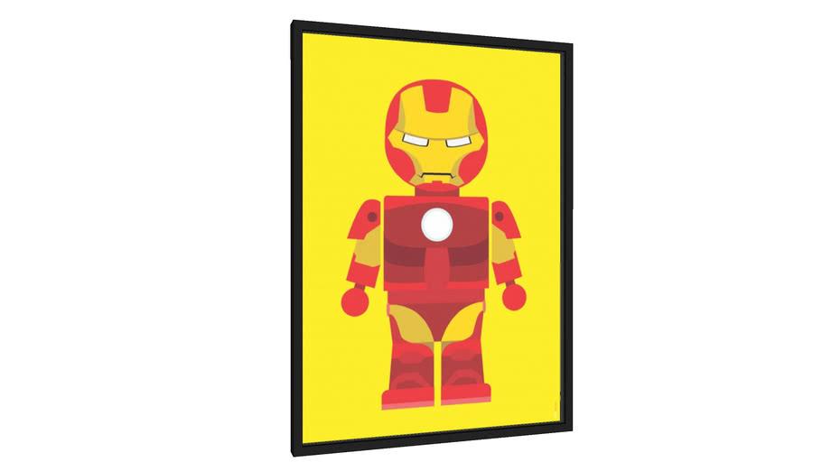 Quadro Homem de Ferro - Galeria9, por Rafa Gomes