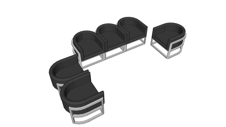 Office chairs 1,2,3 seater By Grim