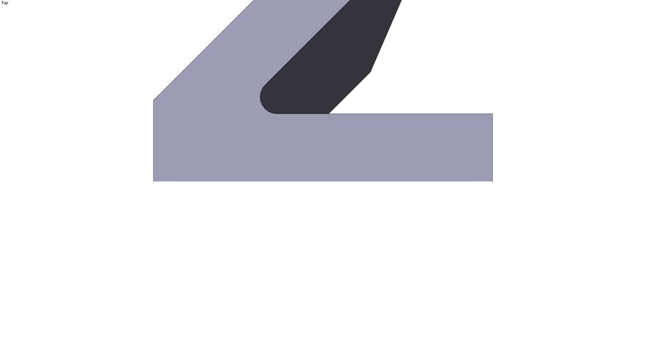 Angular section 45° - 100 x 95 x 300 mm