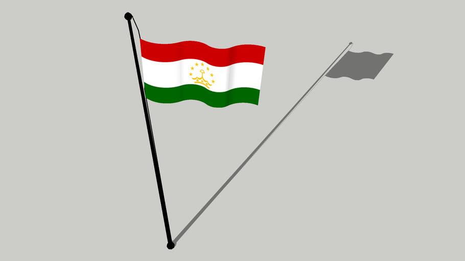 Flag of Tajikistan - Парчами Тоҷикистон - Parcami Toçikiston - پرچم تاجیکستان