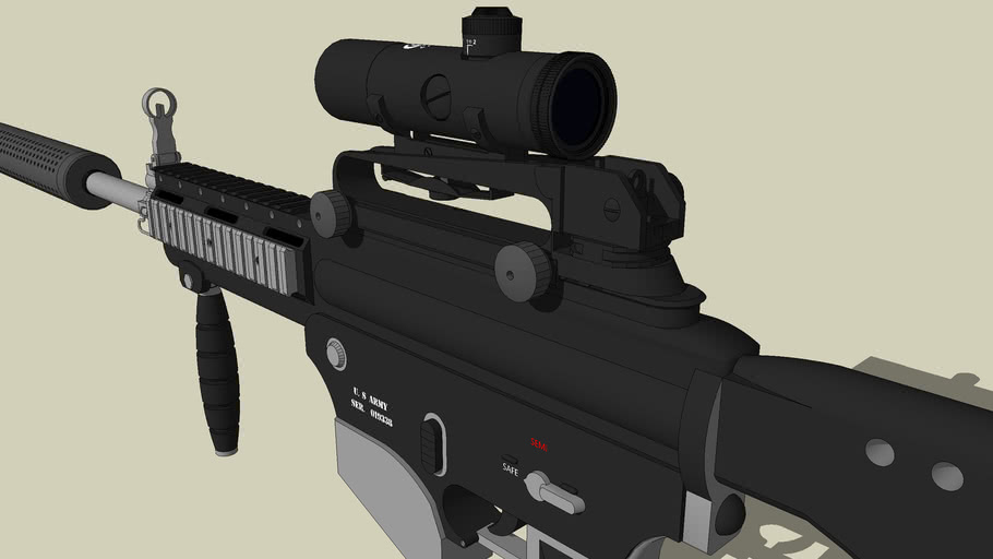 Concept M4 assault rifle * W/ SCOPE,CARRYING HANDLE, & SUPPRESSOR*