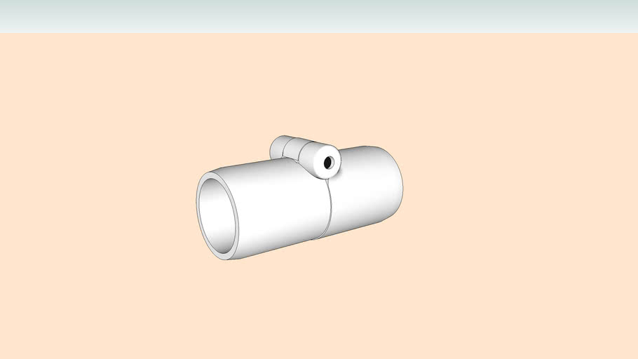 3/4 in. Inline Folding Furniture Grade PVC Coupling - FORMUFIT