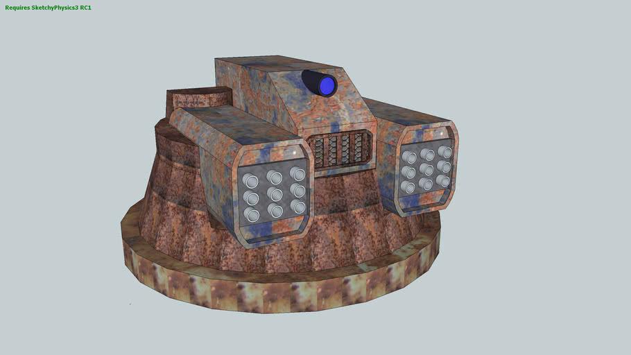 Metal storm turret