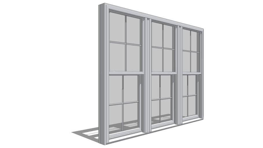 Pella 350 Series Double-Hung - 3-Wide