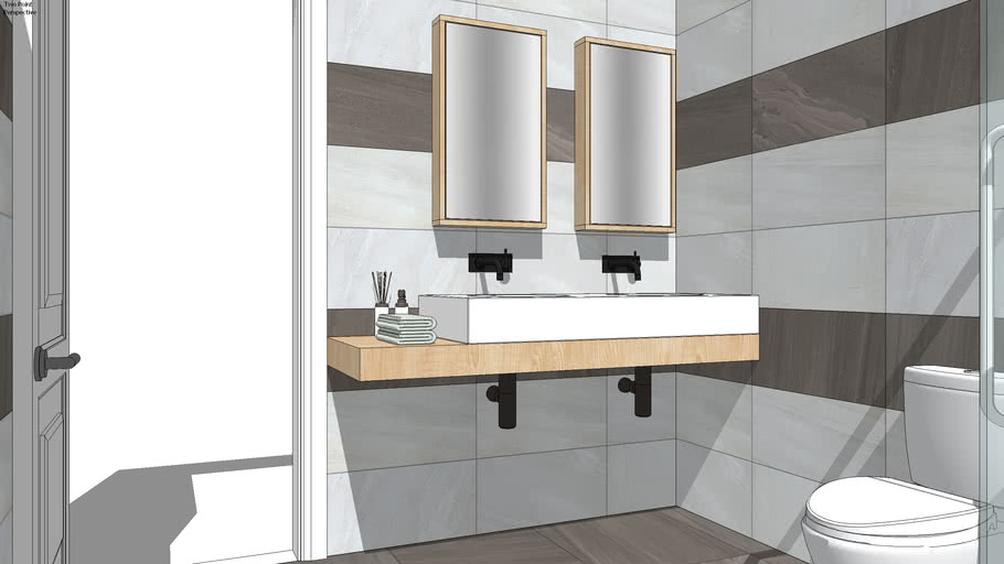 modern bathroom | 3D Warehouse on Bathroom Model  id=51977