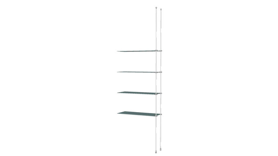 Tube – CTF - 4 Glass Shelves Add On Unit