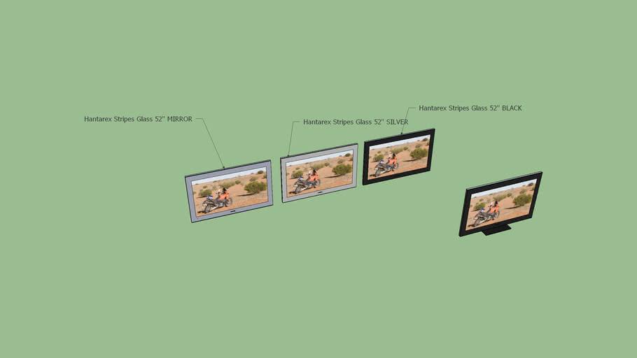 Hantarex Stripes Glass 52'' LCD TV