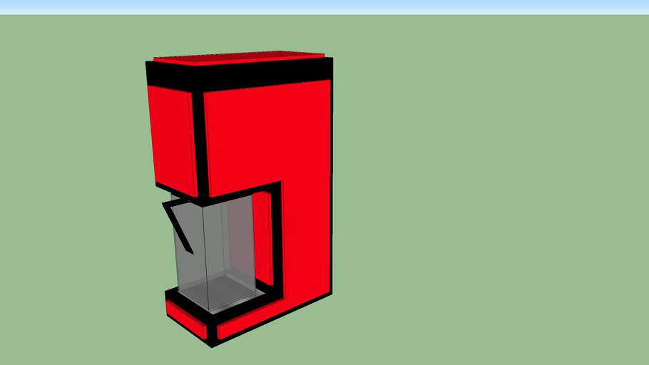 Cafeteira Color Coffee Vermelha
