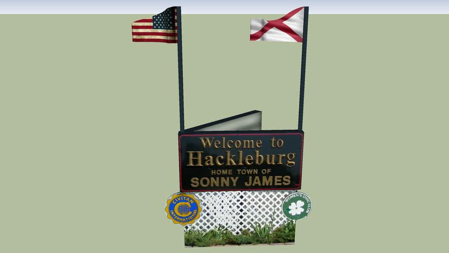 Welcome Sign Hackleburg, Alabama