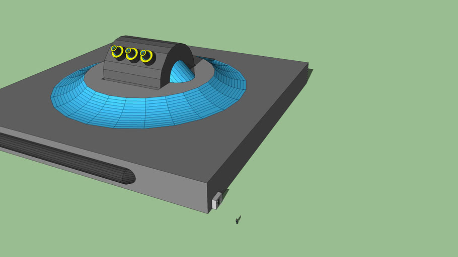 Tri Barrel Particle Accelerator Cannon