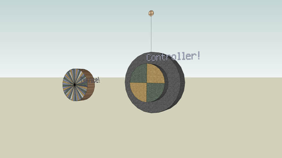 Ancient Wheel for R/C Contest