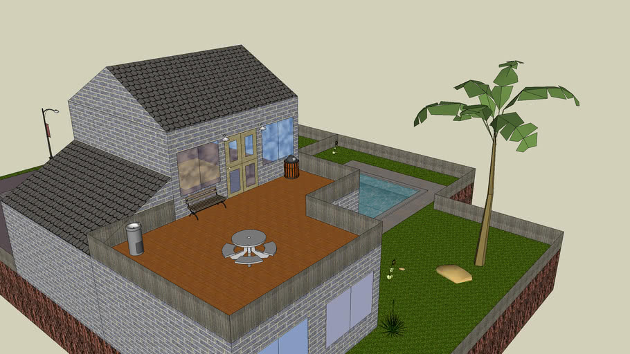 house with garage and l shaped extenction 3d warehouse house with garage and l shaped