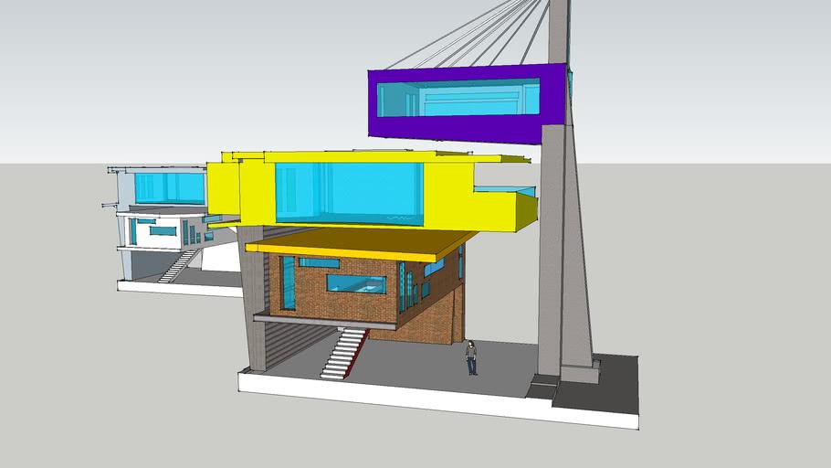 Cantilever 3 story Villa