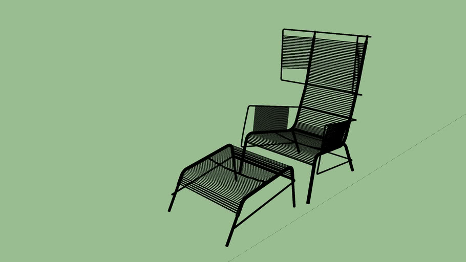 Fifty Chair and Footstool