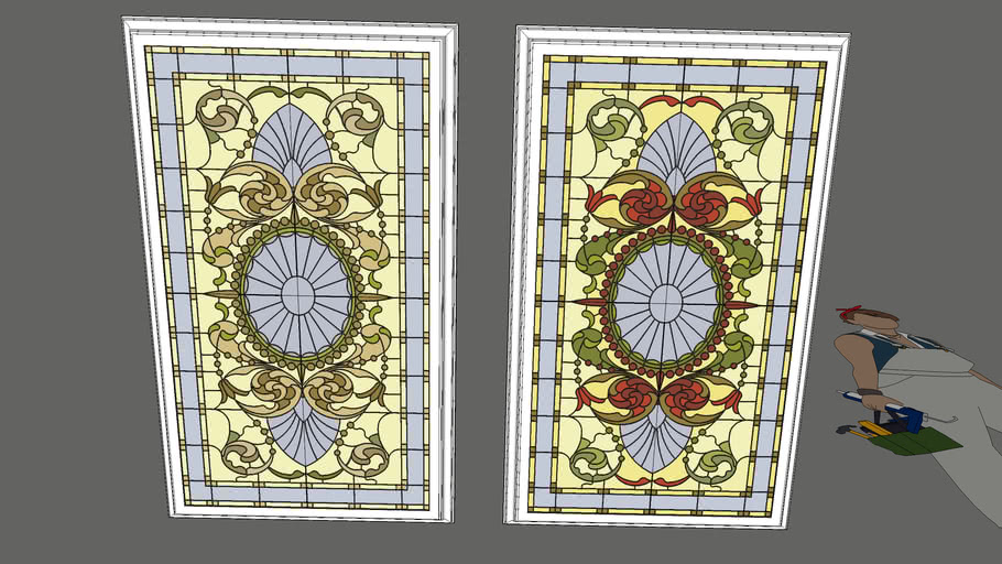 Ceiling Stained Glass Victorian Style Faux Skylight 3d Warehouse,Kids Designer Swimwear