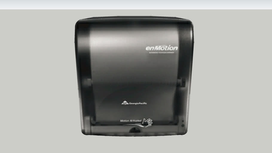 Georgia Pacific enMotion® Wall Mount Automated Touchless Towel Dispenser - Smoke Black