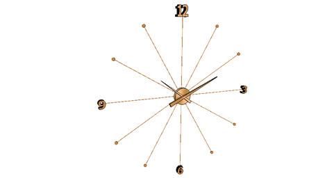 39279 Wall Clock Like Umbrella Rose Gold