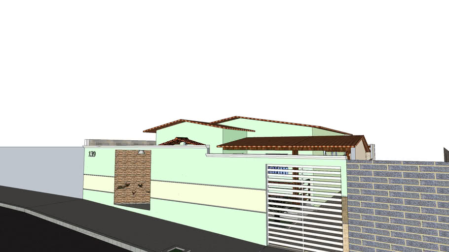 Casa 80m² - Com área de Lazer