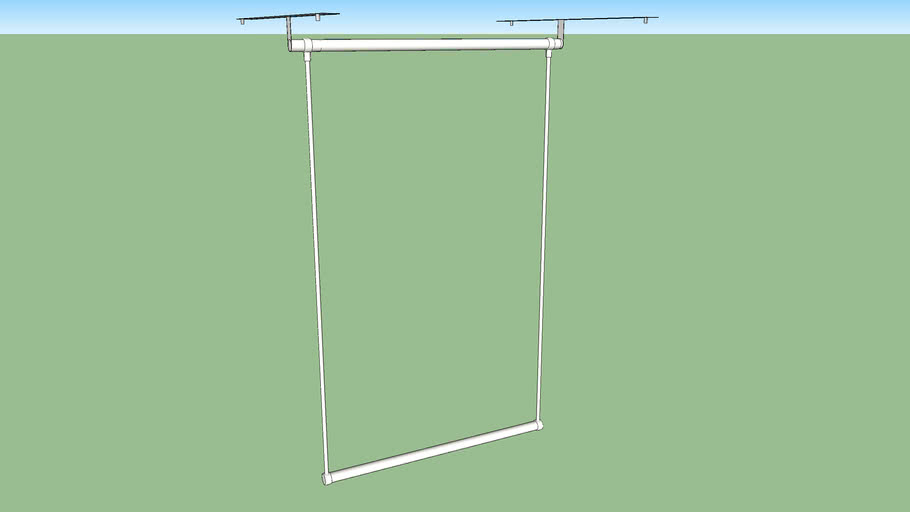 IKEA LÄTTHAT clothes rail outside 60-100 x 55