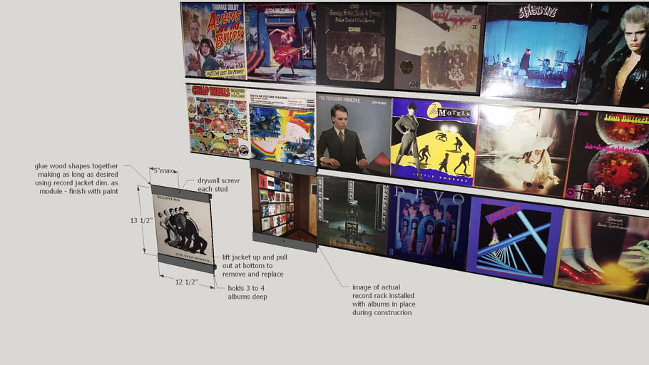 EZ Build Low Cost Display & Play Record Rack